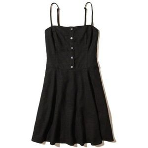 Express Button Up Black Summer Dress